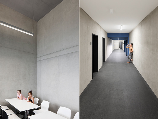 classrooms and corridors - Ballett am Rhein