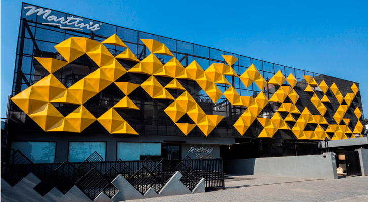 facade inspired by origami principles