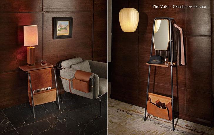 valet stands - designer david rockwell