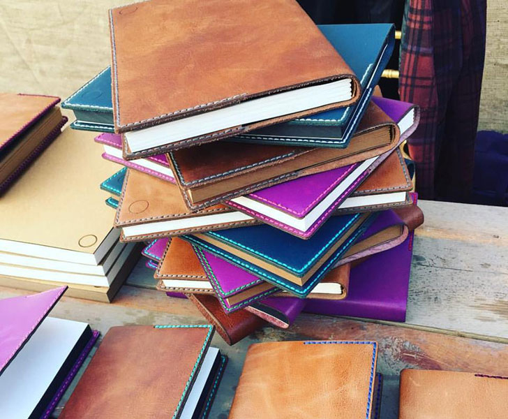 handcrafted leather books by Tortus