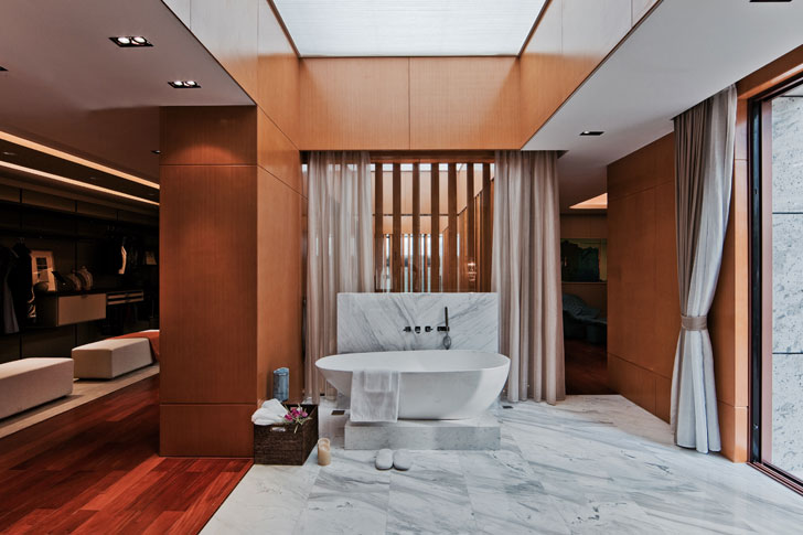 plush bathroom ideas; courtesy Horace Pan