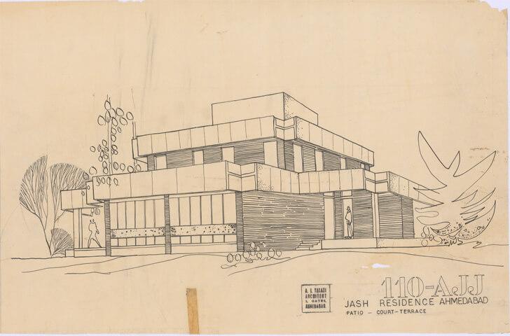 Jash House, Ahmedabad, 1972  - Ar. Arvind Talati
