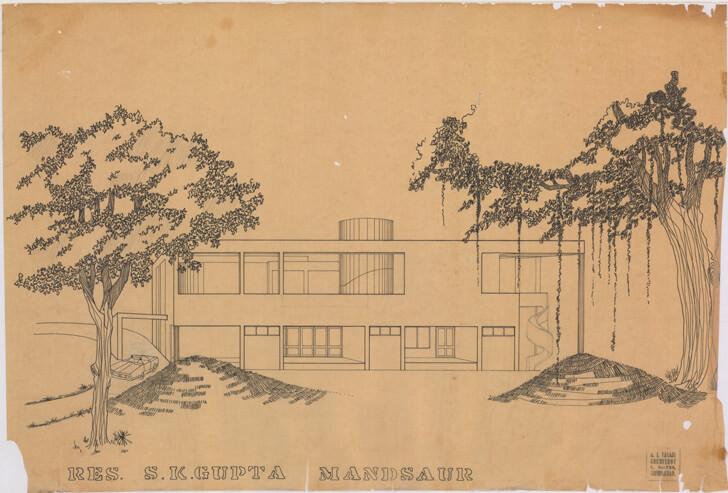 S. K. Gupta House, Mansaur, 1974 - Ar. Arvind Talati