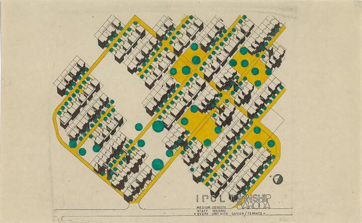 Master Plan of IPCL Township, Baroda, 1970  - Ar. Arvind Talati