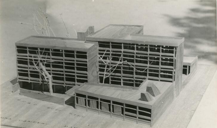 Model of Jeevan Sadhana School, Baroda, 1963  - Ar. Arvind Talati