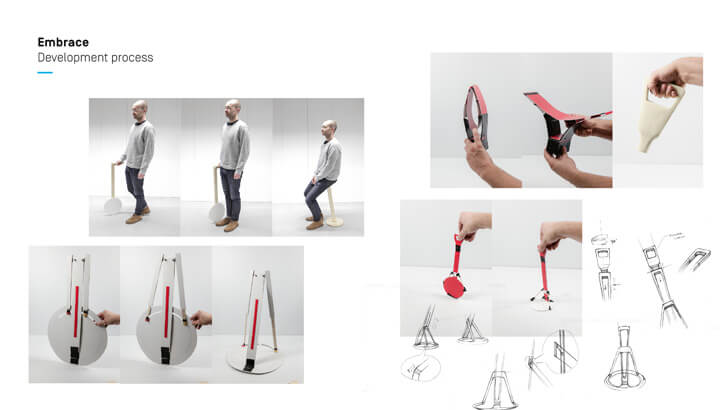 Embrace - walking aid by Carlos Schreib - development process