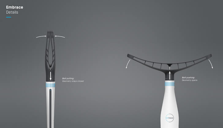 Embrace - walking aid by Carlos Schreib - details