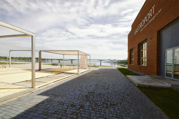 Newly opened Gastroport along the bank of the Kama River in Perm
