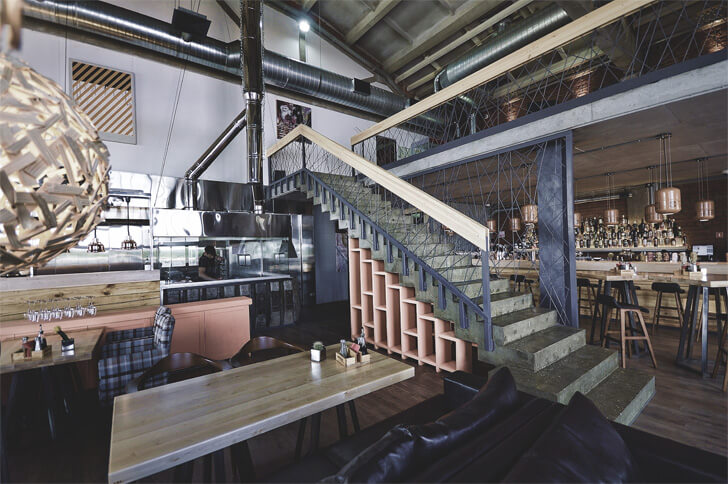 raw industrial-style interiors