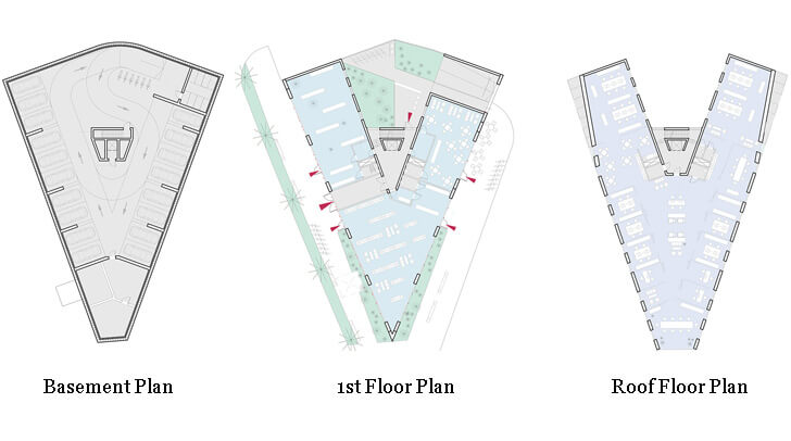 floor plans of office building in Riga