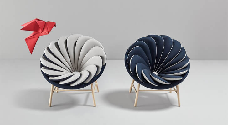 Quetzal chairs by French designer, Marc Venot,