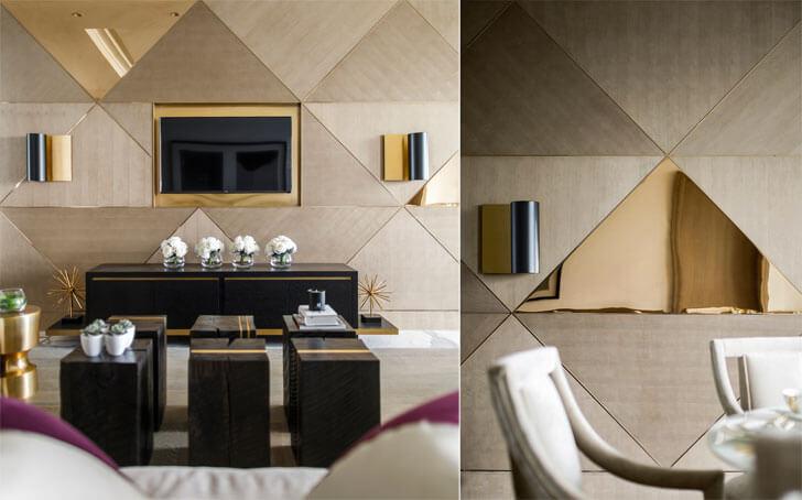 metallic mirror tiles