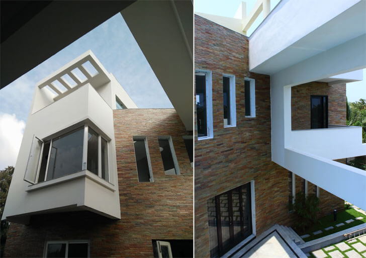 linear vertical windows
