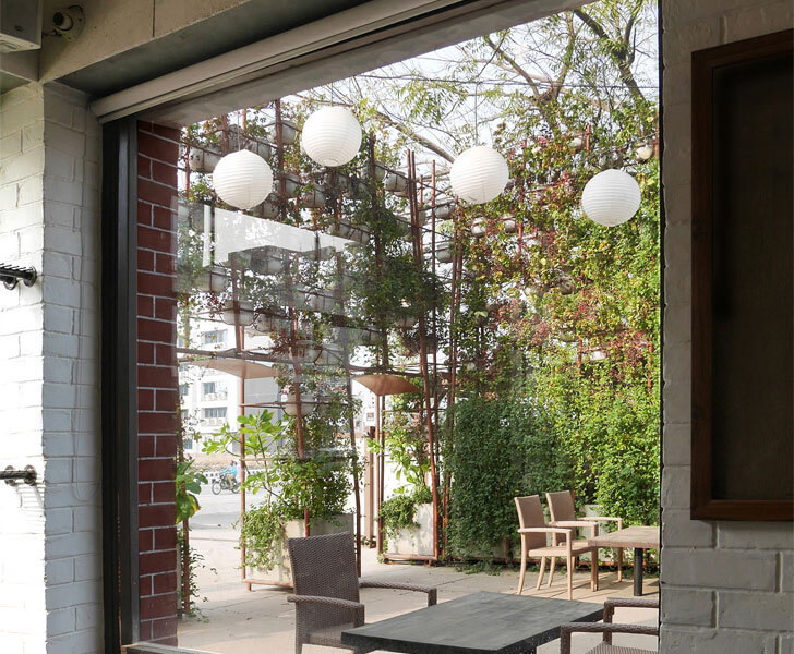 """large window amazo restaurant indiaartndesign"""