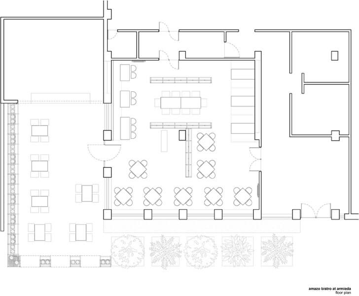 """plan amazo restaurant banduk smith architects indiaartndesign"""