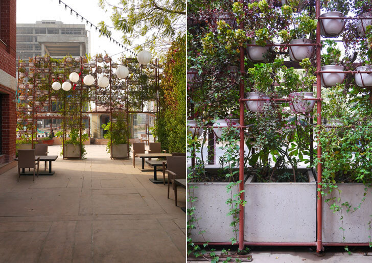 """planter screen amazo restaurant indiaartndesign"""