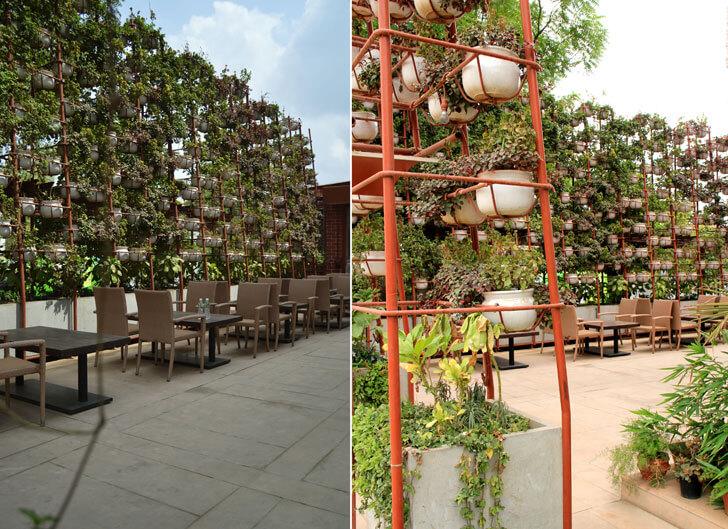 """vertical garden amazo restaurant indiaartndesign"""