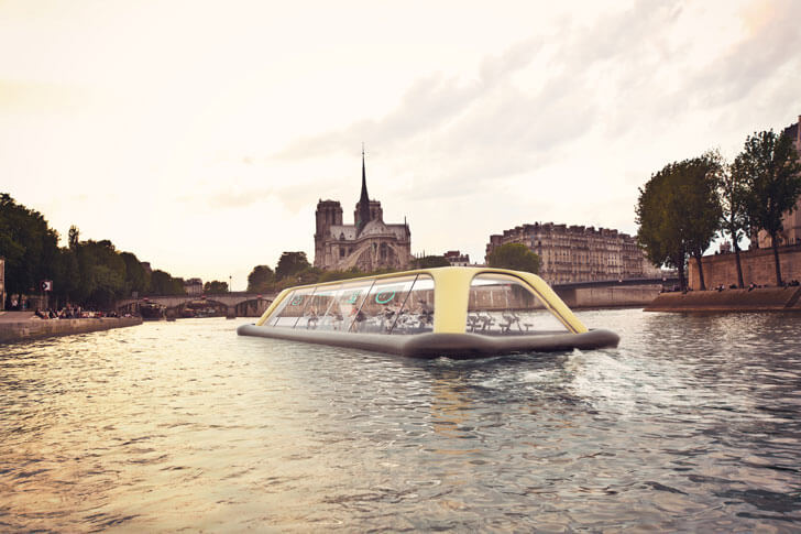 """floating gym river seine CRA indiaartndesign"""
