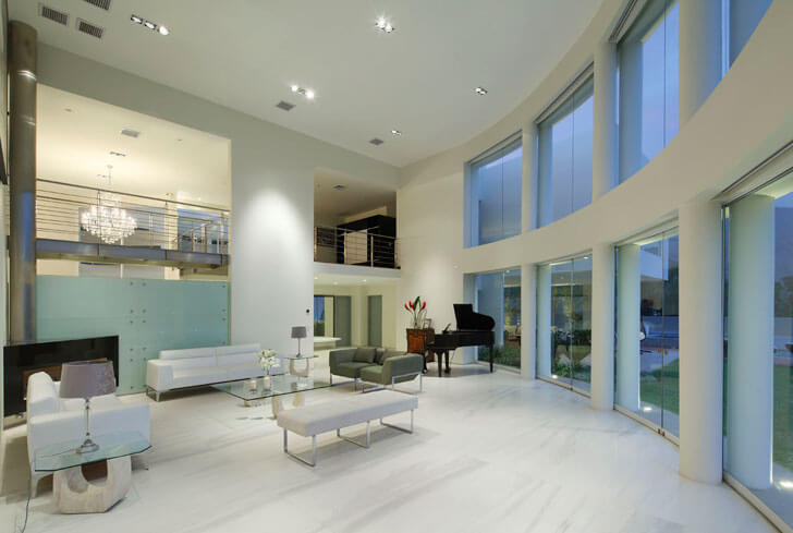 """double height Casa O Gomez Guerrero Architects indiaartndesign"""