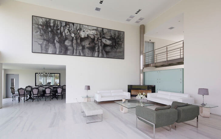 """living dining Casa O Gomez Guerrero Architects indiaartndesign"""