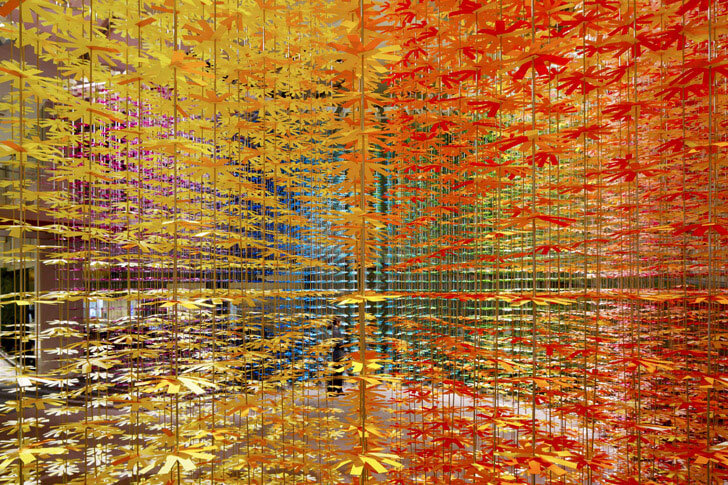 """ColourMixing installation emmanuelle moureaux indiaartndesign"""