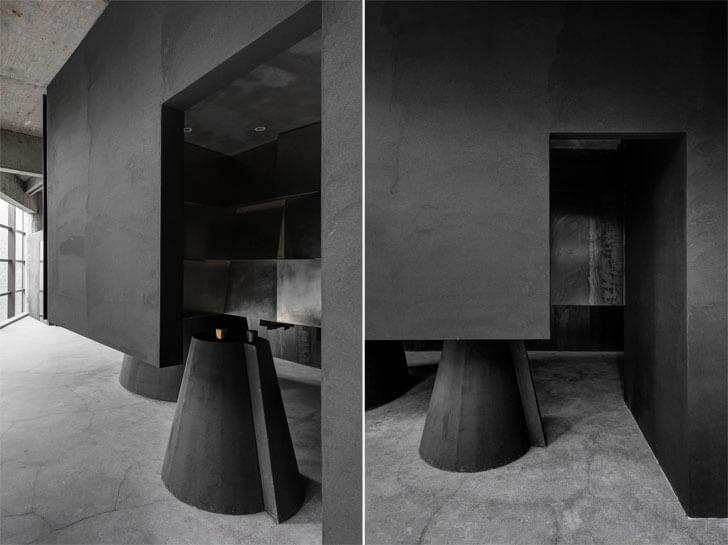 """black concept store AN design indiaartndesign"""