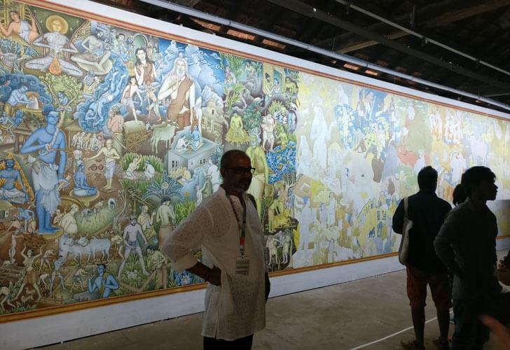 """""""mural P K Sadanandan KMB indiaartndesign"""""""
