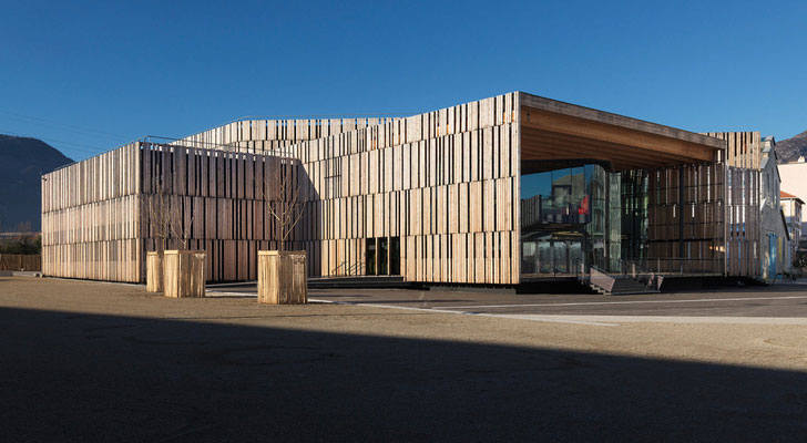 """larch boards architectural skin concert hall herault arnod architects indiaartndesign"""