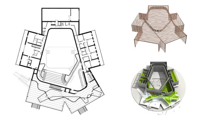 """plan la belle concert hall herault arnod architects indiaartndesign"""