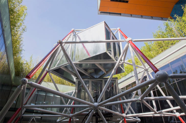 """space frame plugin tower Peoples Architecture Office indiaartndesign"""