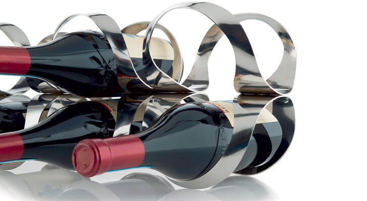 """ribbon wine rack UNStudio indiaartndesign"""