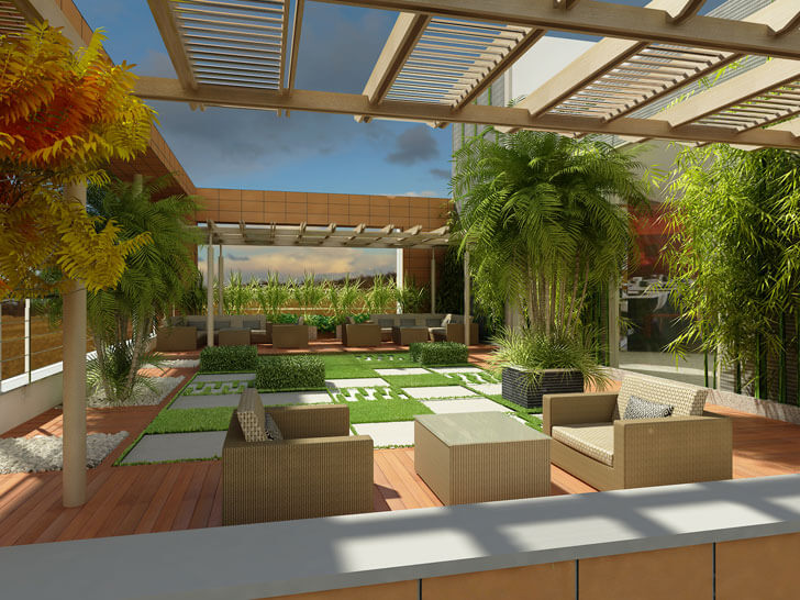 India art n design inditerrain managing operating cost of for Terrace garden in india