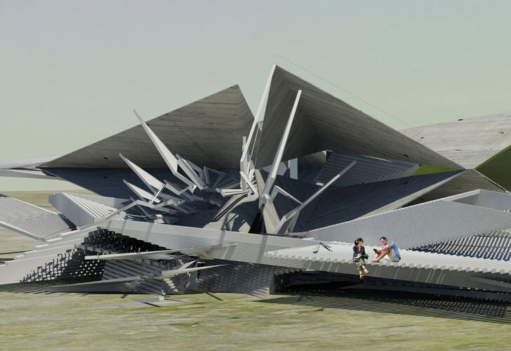 """recycled plastic Seismic Hotel Margot Krasojevic Architects indiaartndesign"""