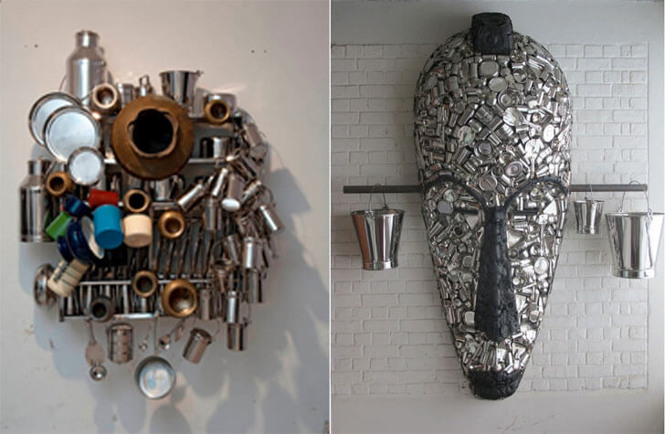 """family portrait and mask subodh gupta indiaartndesign"""
