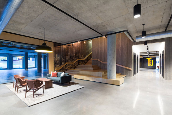"""exposed concrete and wood Timber building MGArchitecture DLR Group indiaartndesign"""