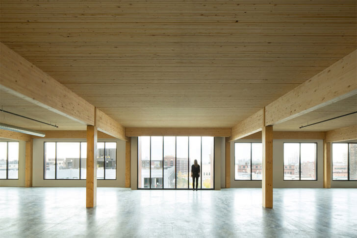 """wooden beams columns Timber building MGArchitecture DLR Group indiaartndesign"""