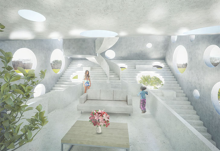 """living area Y House MVRDV indiaartndesign"""