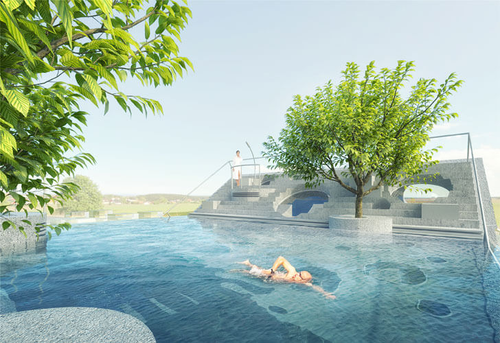 """Open to sky pool Y House MVRDV indiaartndesign"""
