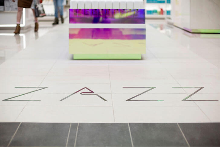 """floor graphics zazz Hatem+D indiaartndesign"""