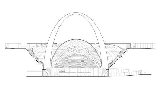 Rear view of the roof - in plan