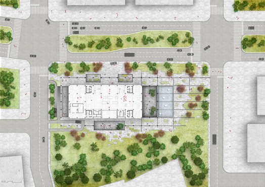 Tainan Public Library - ground floor plan