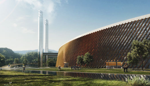 3d rendering of shenzhen waste to energy plant