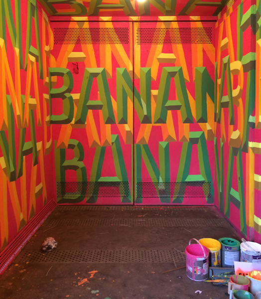 Shabbu Painter's banana at st+art festival delhi 2016
