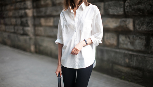 crisp white shirt  -casual and chic
