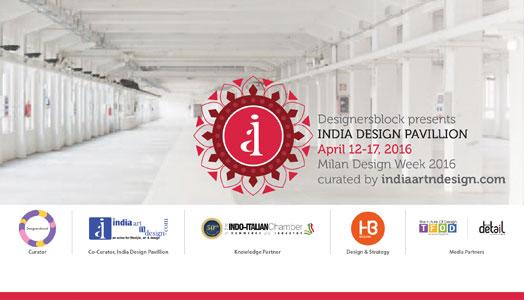 indiaartndesign(dot)com's india design pavillion at Milan design Week 2016