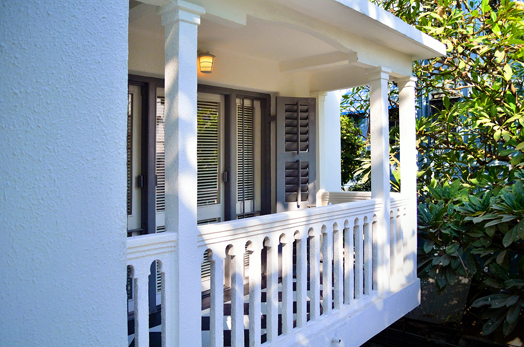 old world charm - wooden louvered windows