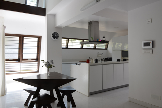 dining with open kitchen