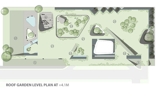 Roof Garden Level Plan - Museum of Knowledge Chandigarh