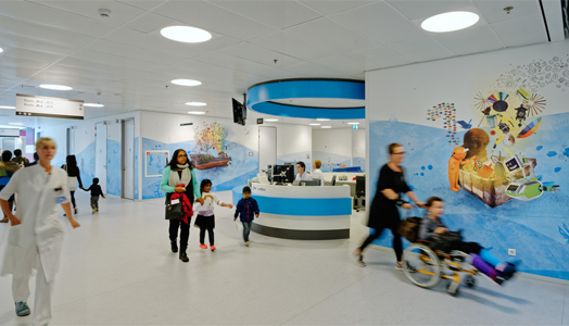corridors of juliana children hospital