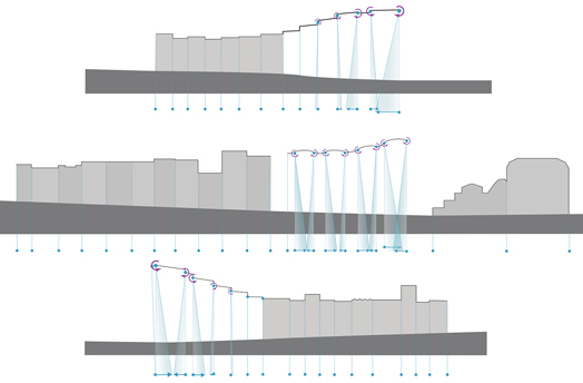unfolded façade diagram